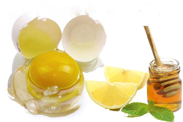 Làm trắng da bằng mật ong, chanh tươi và trứng gà