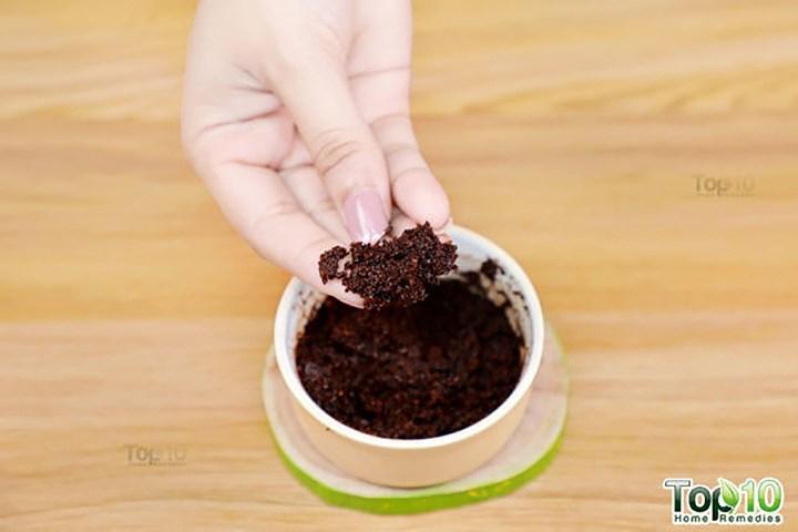 Công thức tẩy tế bào chết từ bột cà phê cho làn da trắng mịn