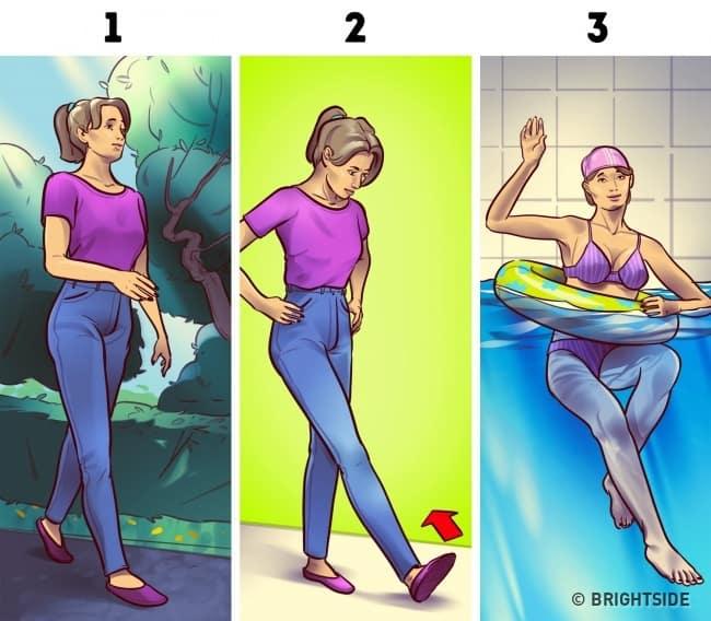 Sở hữu đôi chân thon gọn chỉ với 3 phút tập mỗi ngày